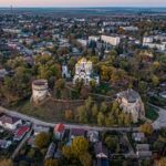 The Ostroh Castle from above
