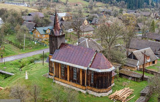 Wooden Neo-Gothic Church, Rozluch, Lviv Oblast, Ukraine, photo 6