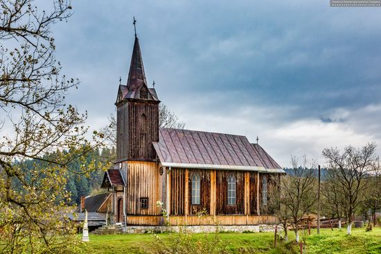 Wooden Neo-Gothic Church, Rozluch, Lviv Oblast, Ukraine, photo 8
