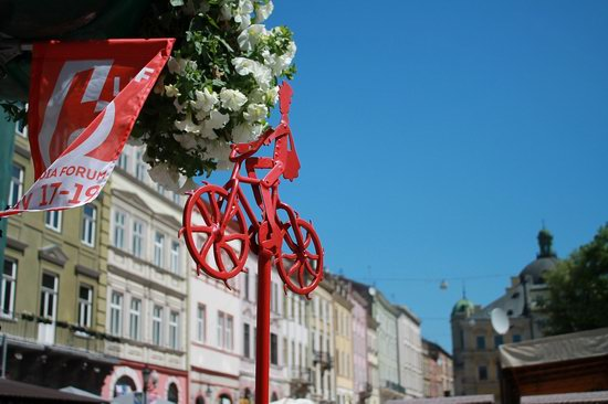 Cycling in Lviv, Ukraine