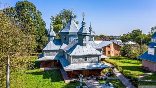 Church in Horishnje Zaluchchya, Ivano-Frankivsk Oblast, Ukraine, photo 14
