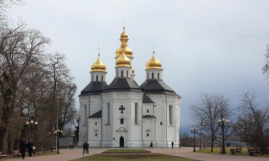 Mid April in the center of Chernihiv, Ukraine, photo 1