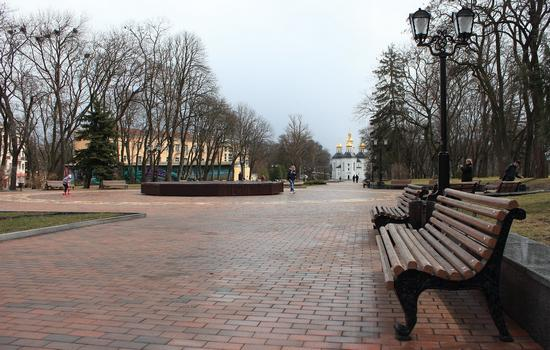 Mid April in the center of Chernihiv, Ukraine, photo 12