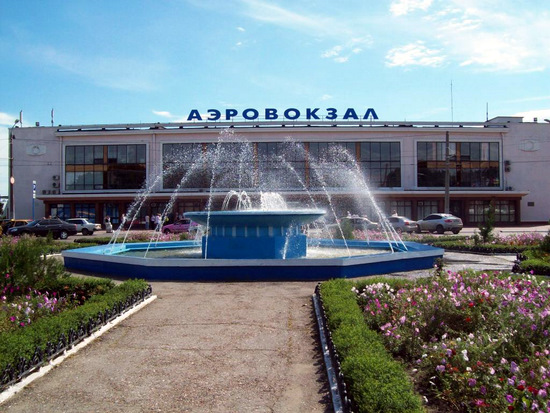 Old terminal of Odessa international airport, Ukraine