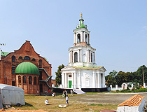 The bell tower of Vvedensky Church