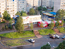 In a typical residential area of Alchevsk