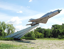 Bila Tserkva jet fighter monument