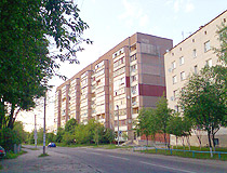 Apartment buildings in Boryspil