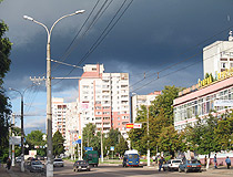 On the street in Chernihiv