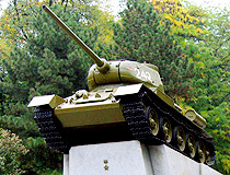 Tank T-34 monument in Dnipro