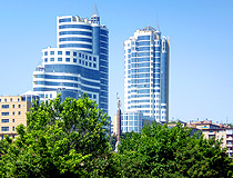 High-rise buildings in Dnipro