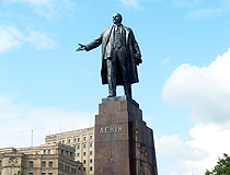 Lenin monument (demolished in September 2014)