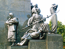 Part of the monument to Taras Shevchenko in Kharkiv