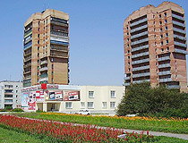 Apartment buildings in Kostyantynivka