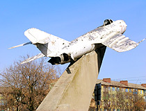 Kramatorsk jet fighter monument