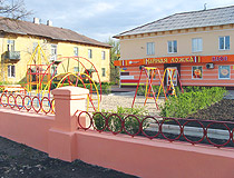 Cafe with a playground in Kramatorsk