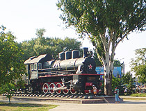 Krivoy Rog engine monument