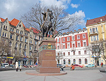 Monument to King Daniel of Galicia - the founder of Lviv