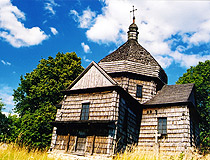 Old wooden church in the Lviv region