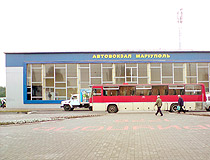 Bus station of Mariupol