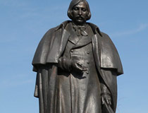 Gogol monument in Myrhorod