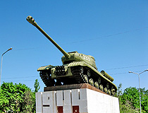 Monument Tank IS-2 in honor of the liberation of Nikopol