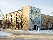 Another Soviet mural in Oleksandriya