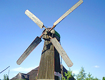 Wooden windmill in the Poltava region