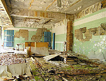 Interior of one of the abandoned building in Pripyat