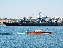 The Russian Black Sea fleet ship