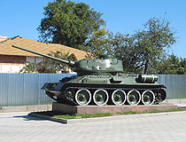 Tank T-34 monument in Sumy