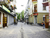 Cobbled street in Ternopil