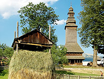 Old wooden church in Zakarpattia Oblast