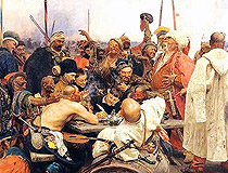 Reply of the Zaporozhian Cossacks - the painting by Ilya Repin