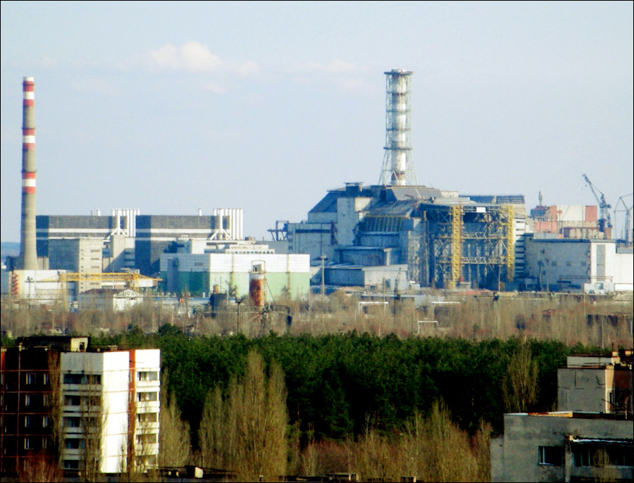 Chernobyl power plant before and after