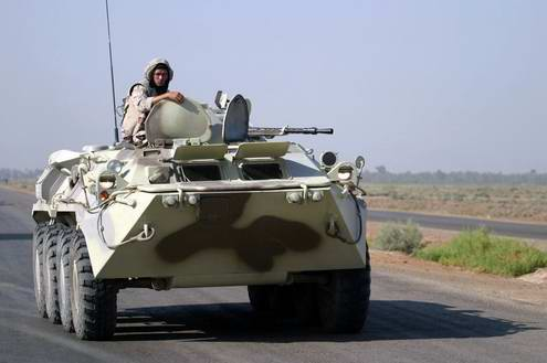 Ukraine army ground forces armoured personnel carrier BTR-80