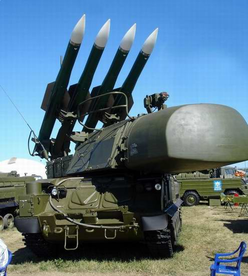 Surface-to-air missile system Buk-M1