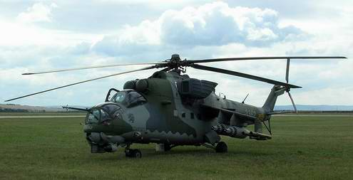Ukraine army ground forces helicopter Mi-24